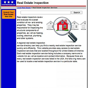 Real Estate Inspectors and Inspection